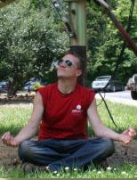 David Roberts Meditating