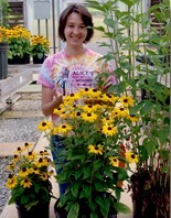 Irene Palmer with Rudbeckia